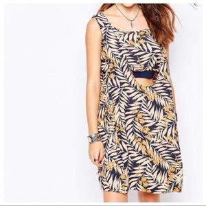 Free People Tropical Print Dress M